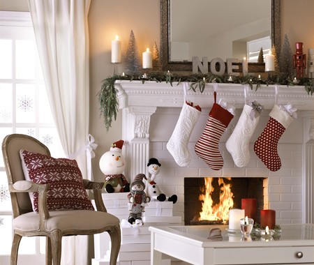 Christmas ideas for your fireplace imagine your homes - Decorazioni camini natale ...